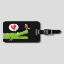 Alligator in Love Luggage Tag