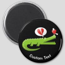 Alligator in Love Magnet