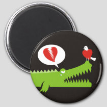 Alligator in Love Magnet