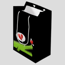 Alligator in Love Medium Gift Bag