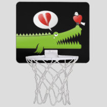 Alligator in Love Mini Basketball Hoop
