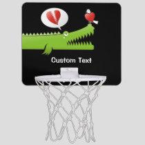 Alligator in Love Mini Basketball Hoop