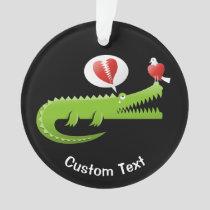 Alligator in Love Ornament
