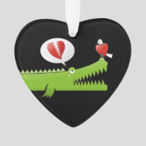 Alligator in Love Ornament