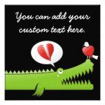 Alligator in Love Personalized Announcement