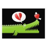 Alligator in Love Personalized Invite