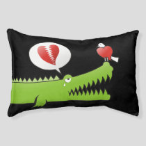 Alligator in Love Pet Bed