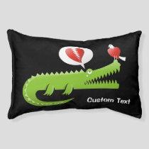 Alligator in Love Pet Bed