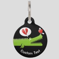 Alligator in Love Pet Name Tag