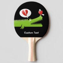 Alligator in Love Ping Pong Paddle
