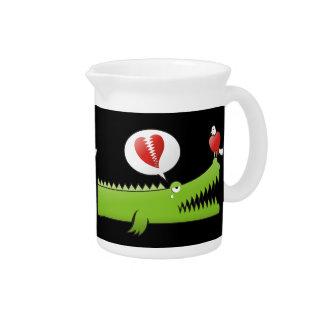Alligator in Love Drink Pitcher