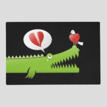 Alligator in Love Placemat