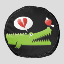 Alligator in Love Pouf