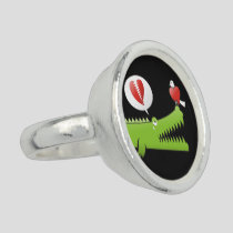 Alligator in Love Ring