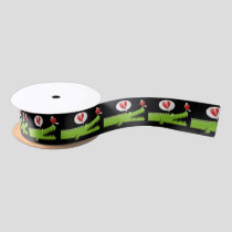 Alligator in Love Satin Ribbon