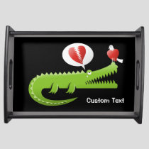 Alligator in Love Serving Tray
