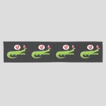Alligator in Love Short Table Runner