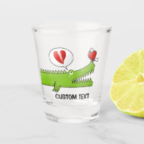 Alligator in Love Shot Glass