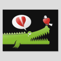 Alligator in Love Sign