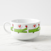 Alligator in Love Soup Mug