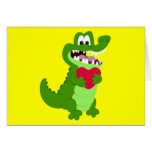 Alligator in Love Stationery Note Card