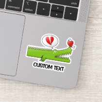 Alligator in Love Sticker