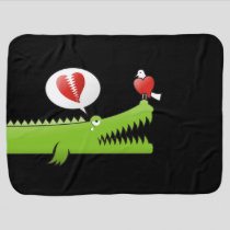 Alligator in Love Stroller Blanket
