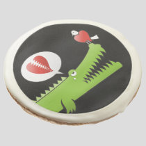 Alligator in Love Sugar Cookie