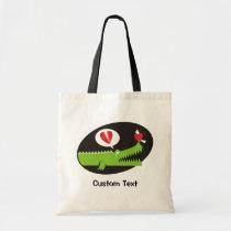Alligator in Love Tote Bag