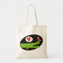 Alligator in Love Tote Bag