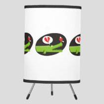 Alligator in Love Tripod Lamp