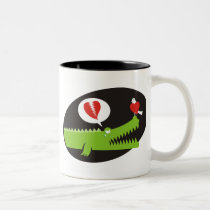 Alligator in Love Two-Tone Coffee Mug