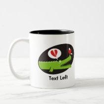 Alligator in Love Two-Tone Coffee Mug