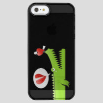 Alligator in Love Clear iPhone SE/5/5s Case