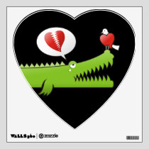 Alligator in Love Wall Sticker