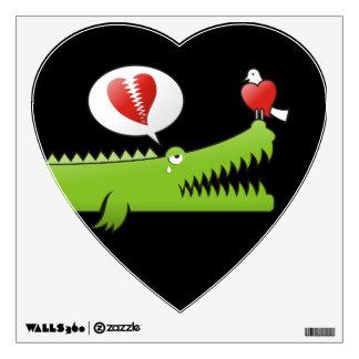 Alligator in Love Room Sticker