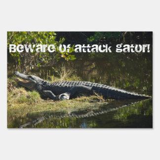 Alligator in the Sun Customizable Lawn Sign