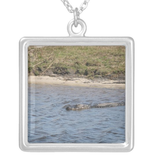 Alligator in the Water Necklace