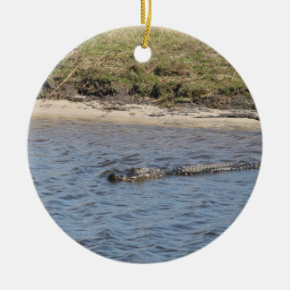 Alligator in the Water Ornament