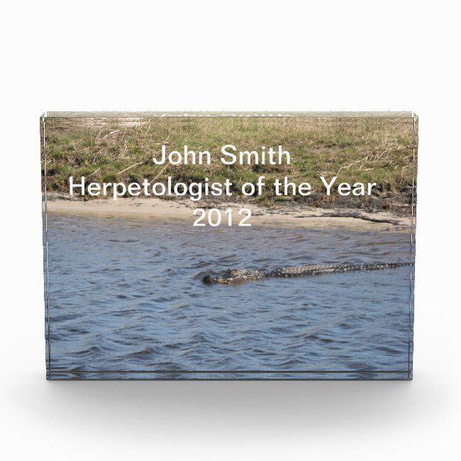 Alligator in the Water Personalize Award