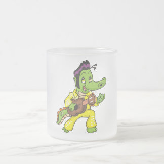 Alligator King with Guitar T-shirts and Gifts 10 Oz Frosted Glass Coffee Mug