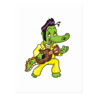 Alligator King with Guitar T-shirts and Gifts Postcard