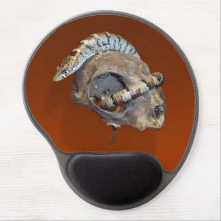 Alligator Lizard on a Cat Skull Gel Mouse Pad