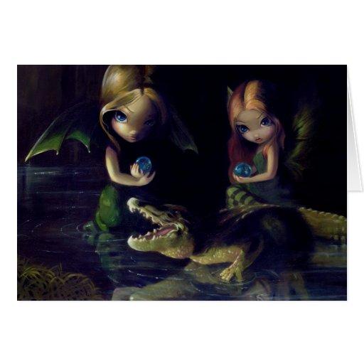"""Alligator Magic"" Greeting Card"