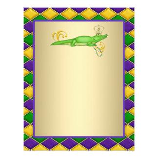 Alligator Mardi Gras Flyer