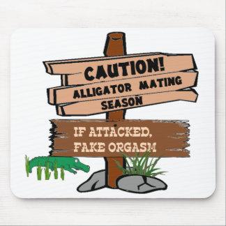 Alligator Mating Season Mouse Pad