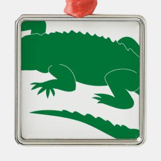 Alligator Metal Ornament