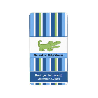 Alligator Miniature Candy Wrappers - Blue/Green Label