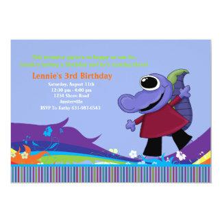 Alligator Monster Birthday Party Invitation