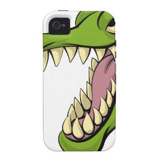 Alligator or crocodile cartoon character iPhone 4/4S cover